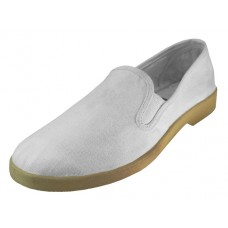 S117M-W - Wholesale Men's Twin Gore Casual Slip-On Canvas  Shoes ( * White Color )