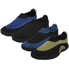 "M1189 - Wholesale Men's ""Wave"" Water Shoes ( *Asst. All Black, Black/Royal, Black/Oilve And Black/Navy )"
