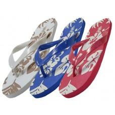 S1300-M - Wholesale Men's & Lady Floral Printed Flip Flops ( *Asst,. Floral Print )