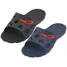 S2080-M Wholesale EasyUSA Men's Sport Slide Sandals ( Asst. Black And Navy )