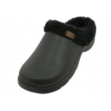 "S2380M-BB - Wholesale Men's ""EasyUSA"" Cotton Terry Lining Insole Soft Clogs  *J ( Assorted Black. Navy . Brown And Gray )"