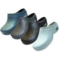 S2390-M - Wholesale Men's Close Toe Rubber Nursing Shoes ( *Asst. Black White Navy & Gray )