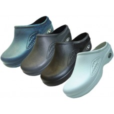 S2390-M - Wholesale Men's Close Toe Rubber Nursing Shoes ( *Asst. Black White Navy & Gray )