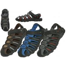 S2600-M - Wholesale Men's Hiker Velcro Sandals ( *Asst. Gray Royal & Brown )