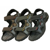 S2900-M - Wholesale Men's Velcro Strap Sandals ( *Asst. Black Olive & Brown )