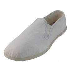 S303M-W - Wholesale Men's Cotton Upper Kung Fu Shoes ( *White Color )