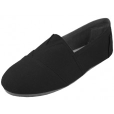 "S308M-B - Wholesale Men's ""EasyUSA"" The Most Comfortable Slip On Casual Canvas Shoes ( *Black Color )"