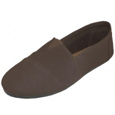 "S308M-T Wholesale Men's ""EasyUSA"" The Most Comfortable Slip On Casual Cavnas Shoe ( *Brown Color )"
