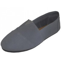 S308M-G Wholesale Men's Slip On Casual Canvas Shoe ( *Gray Color )