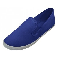 S316M-NAVY Wholesale Men's Slip On Twin Gore Casual Canvas Shoes ( * Navy Color ) *Open Stock