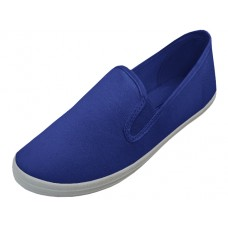 "S316M-NAVY Wholesale Men's ""EasyUSA"" Slip On Twin Gore Upper Casual Canvas Shoes ( * Navy Color ) *Available In Single Size"