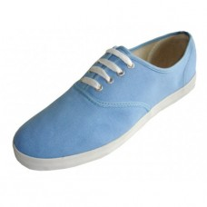 "S324M-SKY BLUE Wholesale Men's ""EasyUSA"" Casual Canvas Lace Up Shoes ( *Sky Blue Color ) *Last 5 Case"