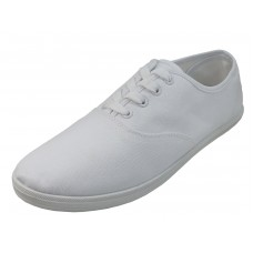 "S324M-W Wholesale Men's ""EasyUSA"" Casual Canvas Lace Up Shoes ( *White Color) *Available in Single Size"