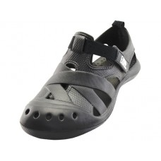 S3903M-BB Wholesale Men's Walking Light Weight Velcro Sandals ( *Black Color )