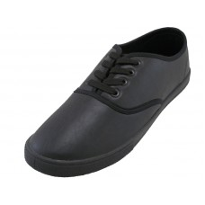 "S446M-B Wholesale Men's ""EasyUSA"" Soft Action Leather Upper Causual Shoes  ( *Black Color )"