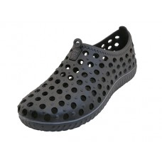 "S7790M-BB Wholesale Mens ""Wave"" Soft Light Weight Slip On Sandals ( *Black Color )"