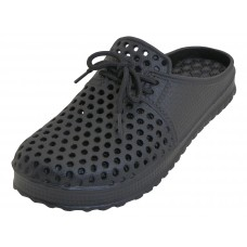 S8840M-BB Wholesale Men EasyUSA Slip On Open Back Soft Sandals ( Black Color )