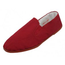 T2-116 - Wholesale Men's Maroon Cotton Upper & Rubber Out Sole Kung Fu Shoes ( *Maroon )