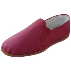 T2-116-M - Wholesale Men's Slip On Twin Gore Cotton Upper With Rubber Out Sole Kung Fu Shoes ( *Maroon Color )