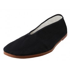T2-202- Wholesale Men's Slip On V-Top Cotton Upper With Rubber Out Sole  Kung Fu/Tai Chi Shoes ( *Black Color )