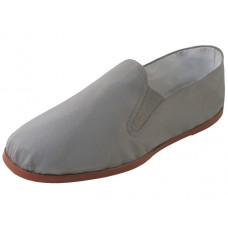 T2-505-M Wholesale Men's Slip On Twin Gore Cotton Upper With Rubber Out Sole Kung Fu / Tai Chi Shoes ( *Gray Color )