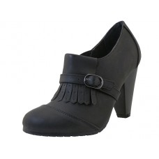 "HAILEY-BLACK Wholesale Women's ""Angeles Shoes"" Hi-Heel Slip On ( *Black Color ) *Last 4 Case"