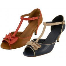 "8-3100- Wholesale Women's 3"" Pump With Bow Top ( *Asst, Navy & Cognac )"