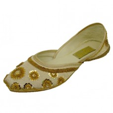 8-4800-G Wholesael Women's Satin Quilted Shoes With Sequin ( *Gold Color )