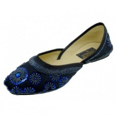 8-4800-N Wholesale Women's Satin Quilted Shoes With sequin ( *Navy Color ) *Close Out $2.50/Pr Case $45.00