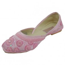 8-4800-P Wholesale Women's Satin Quilted Shoes With Sequin ( *Pink Color )