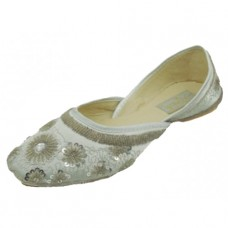 8-4800-S Wholesale Women's Satin Quilted Shoes With Sequin  ( *Silver Color ) *Last 4 Case