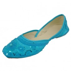 8-4800-Q Wholesale Women's Satin Quilted Shoes With Sequin ( *Turquoise Colors ) *Close Out $2.50/Pr Case $45.00