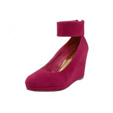 "AGNES-F Wholesale Women's ""Mixx Shuz"" High Platform with Ankle Strap Sandal ( *Fuchsia Color )"
