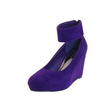 "AGNES-V Wholesale Women's ""Mixx Shuz"" High Platform with Ankle Strap Sandal ( *Violet Color )"