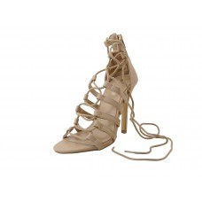"ALEXIS-01 Wholesale Women's ""Mixx Shuz"" High Heel Ankle Strip Sandals ( *Nude Color )"