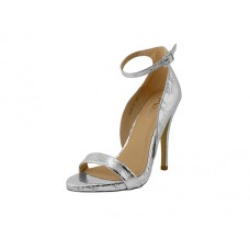 "ANNIE-01-S Wholesale women's ""Mixx shuz"" High Heel Metallic Silver Ankle Strap Sandals ( Silver Color )"