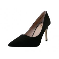 "ASHLEY-02-Black Wholesale Women's ""Mixx Shuz"" 3¼"" Heel Pump Bride Shoe ( *Black Micro Fiber) *Last 3 case"