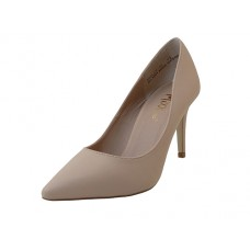 "ASHLEY-02-NUDE Wholesale Women's ""Mixx Shuz"" 3¼ Heel Pump Bride Shoe ( *Nude Color )"