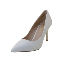 "ASHLEY-02-WHITE Wholesale Women's ""Mixx Shuz"" 3¼ Heel Pump Bride Shoe ( *White Print )"
