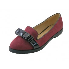 "BITA-M Wholesale Women's ""Angeles Shoes"" Slip-on Shoe With Bow Top (*Maroon Color ) *Last Case"