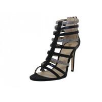"BRITNEY-01-BK Wholesale Women's ""Mixx Shuz"" High Heel Ankle Height Sandals ( *Black Color )"