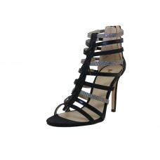 "BRITNEY-01-BK Wholesale Women's ""Mixx Shuz"" High Heel Ankle Height Sandals ( *Black Color )"