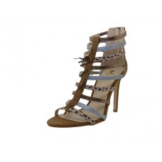 "BRITNEY-01-BRN Wholesale Women's ""Mixx Shuz"" High Heel Ankle Height Sandals ( *Brown Color )"