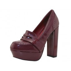 "CAITLIN-BURGUNDY Wholesale Women's ""Angeles Shoes"" Hi-Heel Slip On Shoes ( *Burgundy Color ) *Last 4 Case"