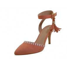 "CARTER-01-C Wholesale Women's ""Mixx Shuz"" High Heel with Ankle Strip Sandal ( *Coral Color ) *Last 4 Case"