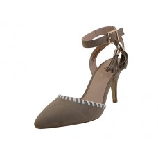 "CARTER-01-T Wholesale Women's ""Mixx Shuz"" High Heel with Ankle Strip Sandal ( *Taupe Color ) *Last 4 Case"