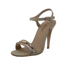 "CHARLOTTE-BEIGE Wholesale Women's ""Angeles Shoes"" Hi-Heel Sandals ( *Nude Color ) *Last 5 case"