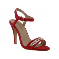 "CHARLOTTE-RED Wholesale Women's ""Angeles Shoes"" Hi-Heel Sandals ( *Red Color )"