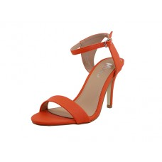 "CHIP-01-Orange Wholesale Women's ""Angeles Shoes"" High Heel Sandal With Ankle Strip ( *Orange Color ) *Last Case"
