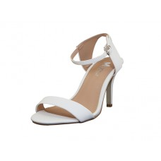 "CHIP-01-WHITE Wholesale Women's ""Angeles Shoes"" High Heel Sandal With Ankle Strip ( *White Color ) *Last Case"
